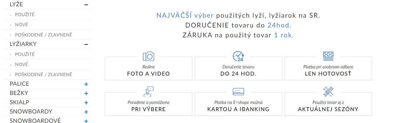 Main menu + categories